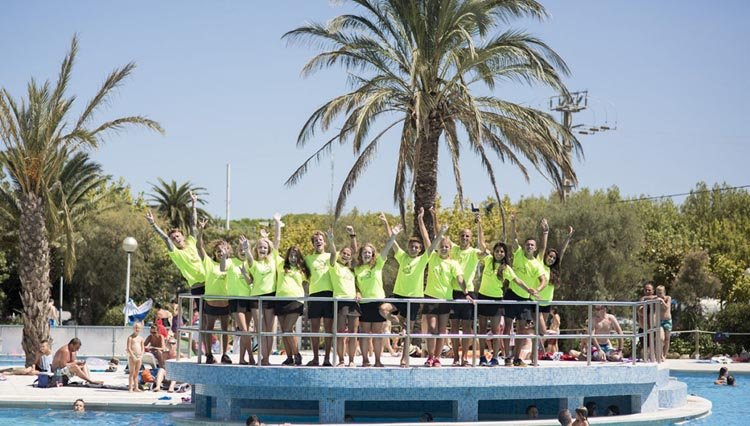 campingplatz el delfin verde  costa brava  spanien