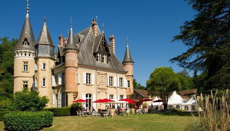 Chateau le Haget kasteel met terras