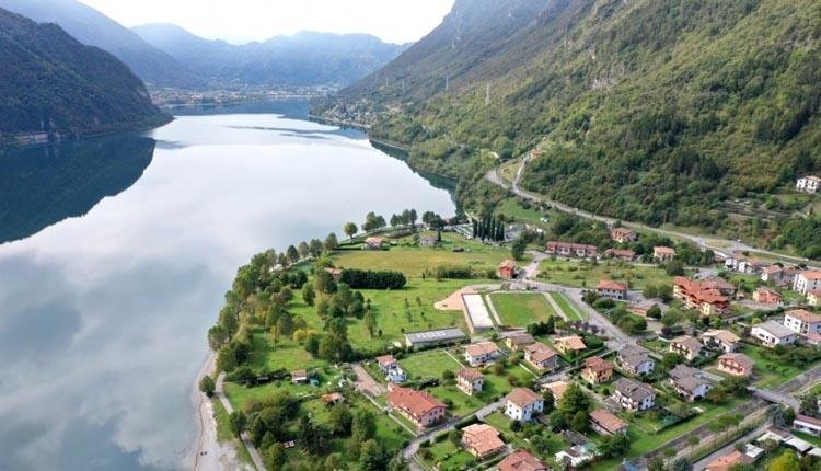 Lago Idro Glamping Boutique boven aanzicht